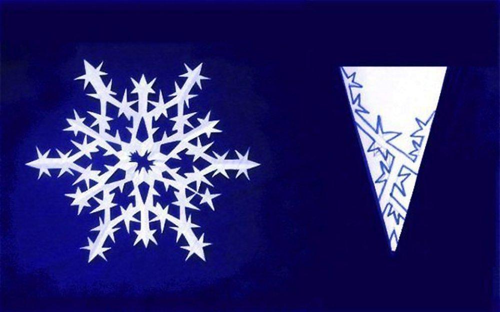 Как сделать снежинку к новому году видео