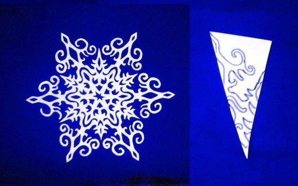 Оригинальные снежинки из бумаги и как их сделать