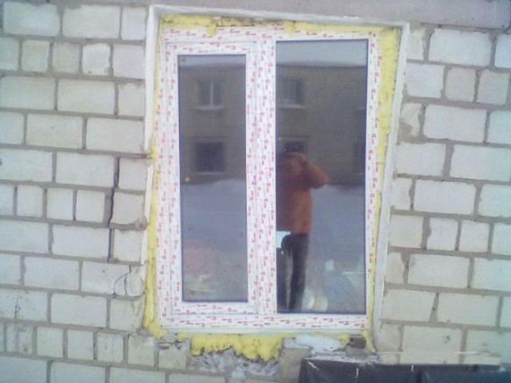 Как сделал окно и дверь 326