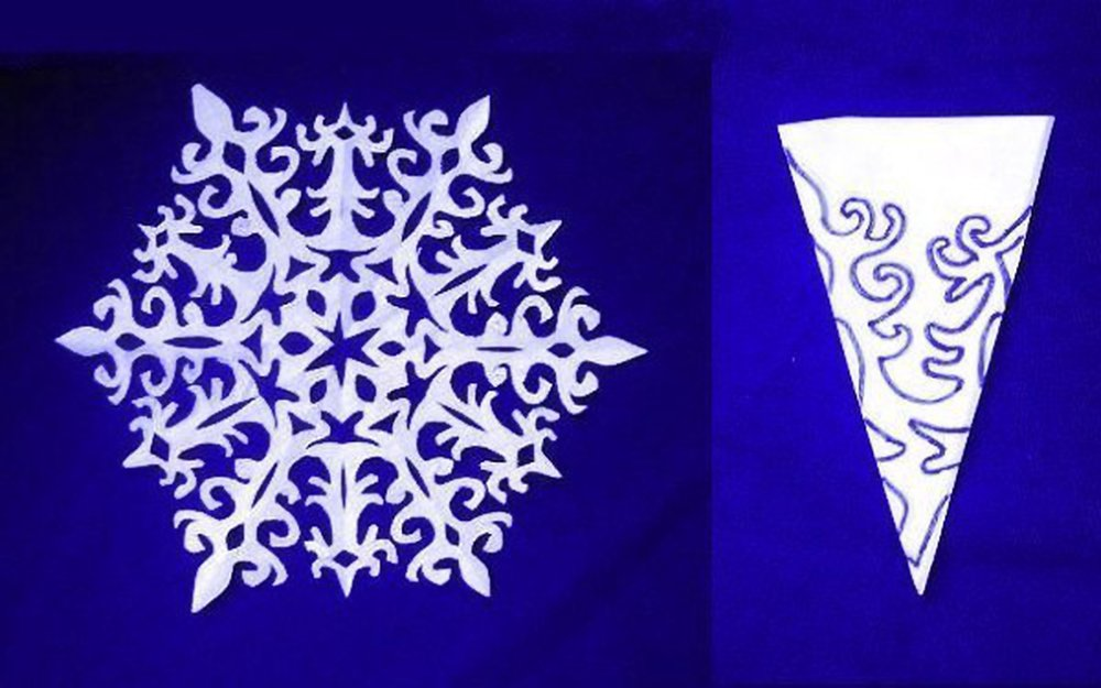 Креативные снежинки из бумаги своими руками